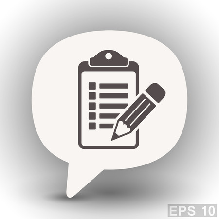 eps 10: Pictograph of checklist. Vector concept illustration for design. Eps 10