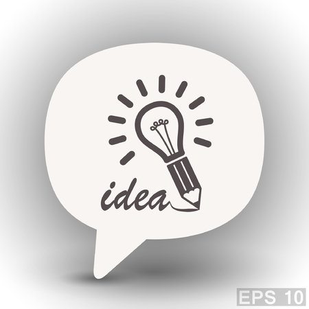 eps 10: Pictograph of light bulb. Vector concept illustration for design. Eps 10