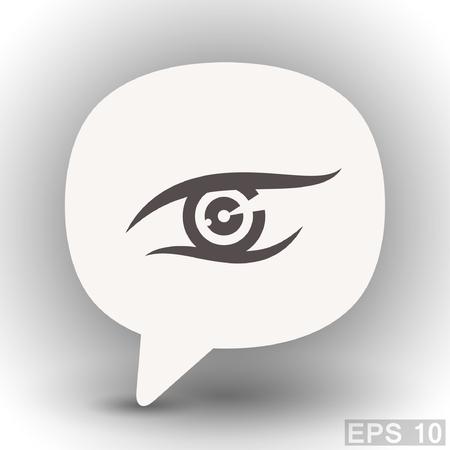 eps 10: Pictograph of eye. Vector concept illustration for design. Eps 10