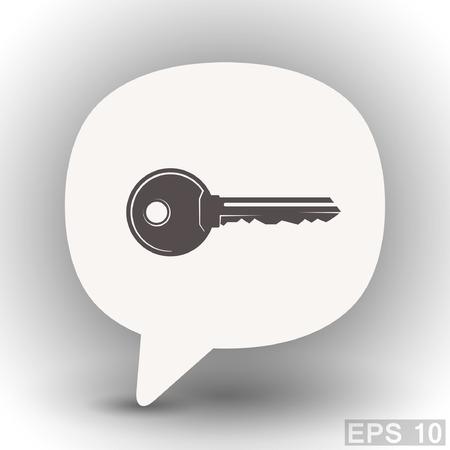 eps 10: Pictograph of key. Vector concept illustration for design. Eps 10
