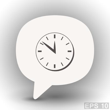 eps 10: Pictograph of  clock. Vector concept illustration for design. Eps 10 Illustration
