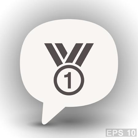 eps 10: Pictograph of award. Vector concept illustration for design. Eps 10