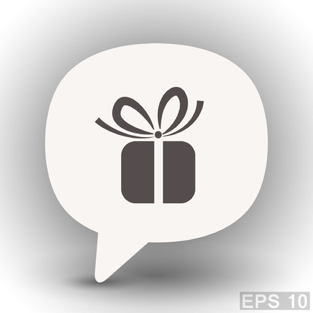 eps 10: Pictograph of gift. Vector concept illustration for design. Eps 10