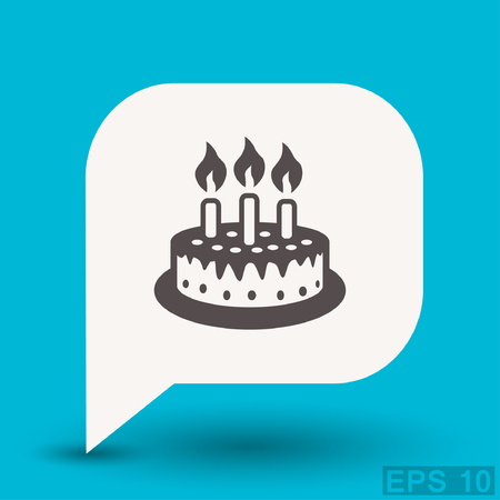 eps 10: Pictograph of cake. Vector concept illustration for design. Eps 10