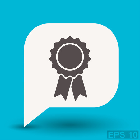 number one: Pictograph of award. Vector concept illustration for design. Eps 10