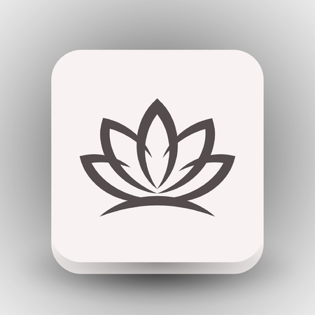 flower petal: Pictograph of lotus. Vector concept illustration for design. Eps 10 Illustration