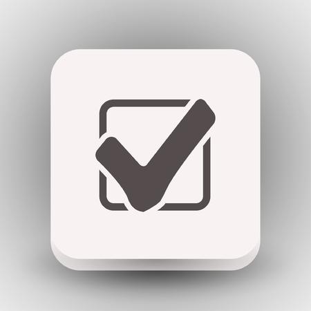 verify: Pictograph of check mark. Vector concept illustration for design. Eps 10
