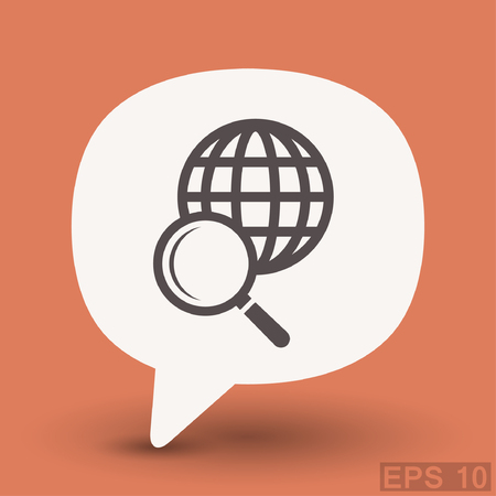 magnification: Pictograph of search. Vector concept illustration for design. Eps 10