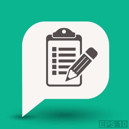 task list: Pictograph of checklist. Vector concept illustration for design. Eps 10