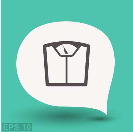 bathroom weight scale: Pictograph of bathroom scale. Vector concept illustration for design. Eps 10