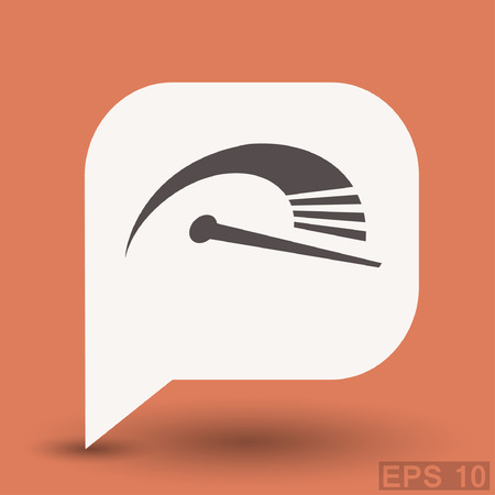 pictograph: Pictograph of speedometer. Vector concept illustration for design. Eps 10