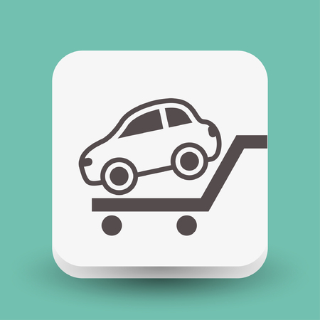 automotive industry: Pictograph of car. Vector concept illustration for design. Illustration