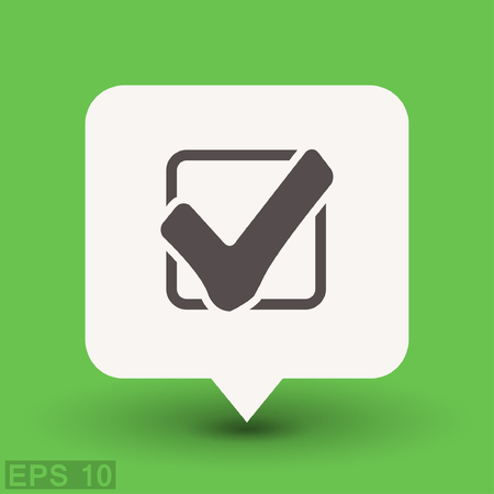 Pictograph of check mark. Vector concept illustration for design. Eps 10