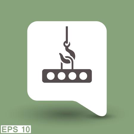hoist: Pictograph of crane hook. Vector concept illustration for design. Illustration