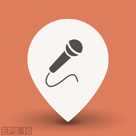 Mikrofon-Symbol. Vektor-Konzept-Illustration Für Design. Eps 10 ...