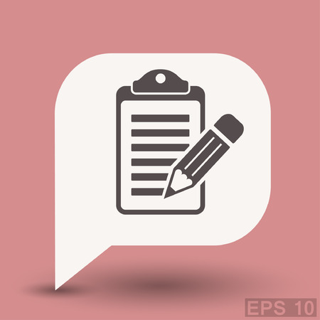 eps 10: Pictograph of note. Vector concept illustration for design. Eps 10