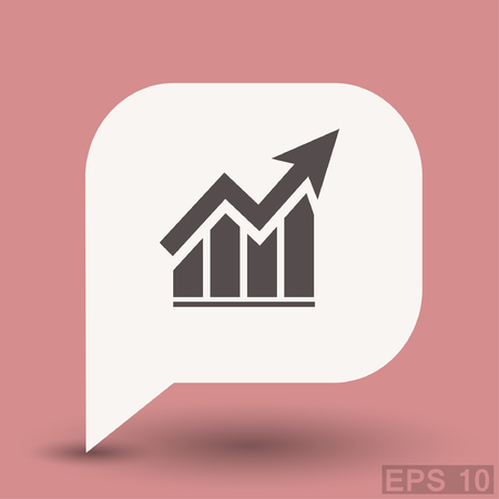 pictograph: Pictograph of graph. Vector concept illustration for design. Eps 10