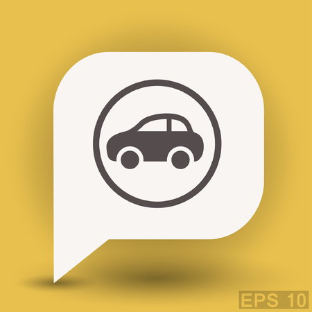 automotive industry: Pictograph of car. Vector concept illustration for design. Eps 10