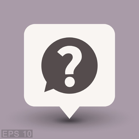 search query: Pictograph of question mark. Vector concept illustration for design.