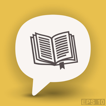 encyclopedia: Pictograph of book. Vector concept illustration for design. Eps 10