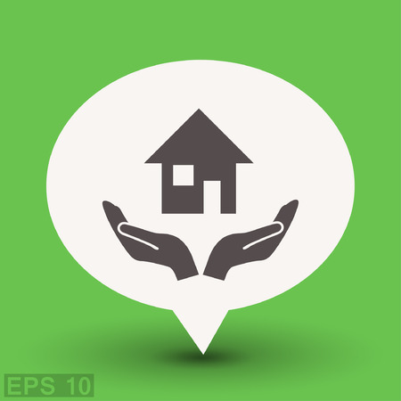 homepage: Pictograph of home. Vector concept illustration for design. Eps 10