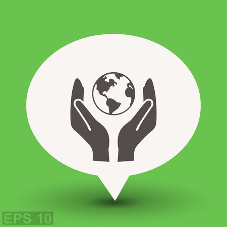 Pictogramme de l'éco. Vector illustration du concept pour la conception. EPS 10