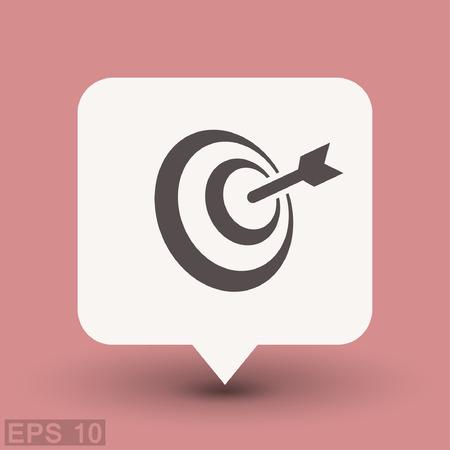 archery target: Pictograph of target. Vector concept illustration for design. Eps 10