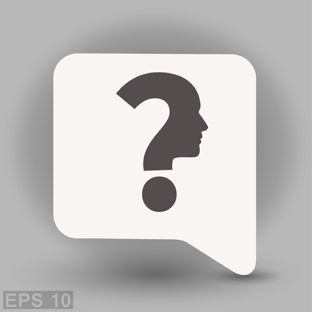 human face: Pictograph of question mark and man. Vector concept illustration for design. Eps 10