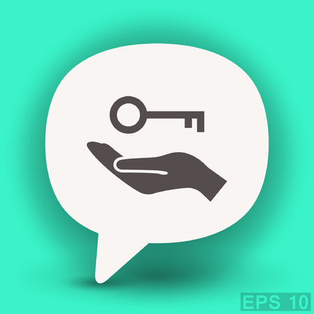 10 key: Pictograph of key. Vector concept illustration for design. Eps 10