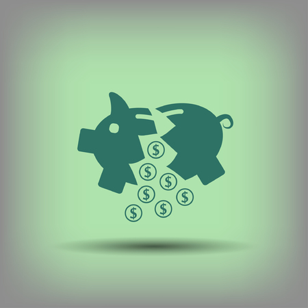 put: Pictograph of moneybox.