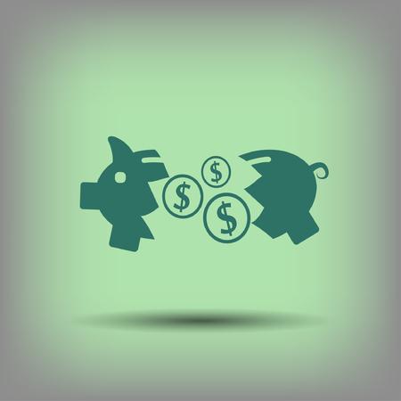 moneybox: Pictograph of moneybox.