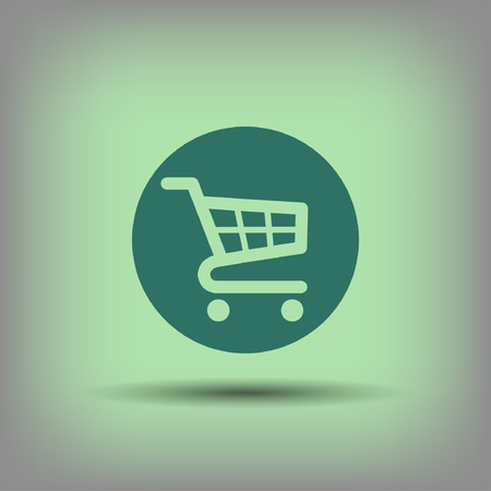 shopping cart: Pictograph of shopping cart.