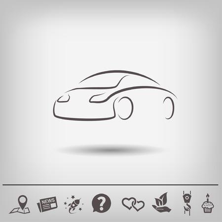 silhouette voiture: Pictograph de voiture. Vector illustration concept pour la conception.