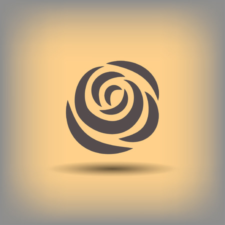 Pictograph of rose. Vector concept illustration for design.