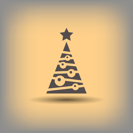 Pictograph of christmas tree. Vector concept illustration for design.