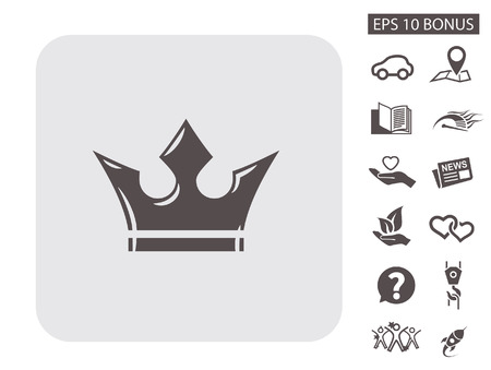 emperor: Pictograph of crown. Vector concept illustration for design. Eps 10 Illustration