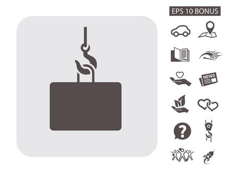 Pictograph of crane hook. Vector concept illustration for design. Eps 10