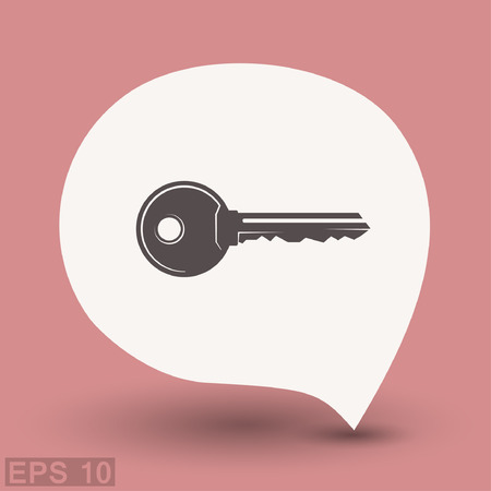 Pictograph of key. Vector concept illustration for design. Eps 10