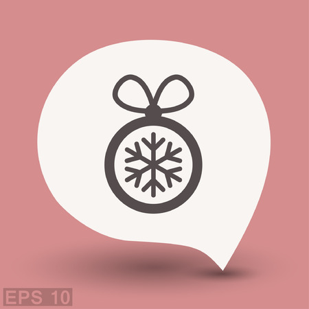 Pictograph of christmas ball. Vector concept illustration for design. Eps 10