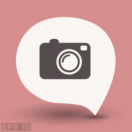 photography equipment: Pictograph of camera. Vector concept illustration for design. Eps 10 Illustration