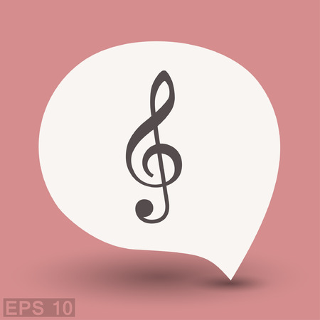 Pictograph of music key. Vector concept illustration for design. Eps 10