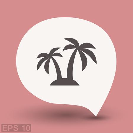Pictograph of island. Vector concept illustration for design. Eps 10 Illustration
