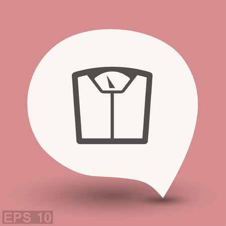 weight control: Pictograph of bathroom scale. Vector concept illustration for design. Eps 10