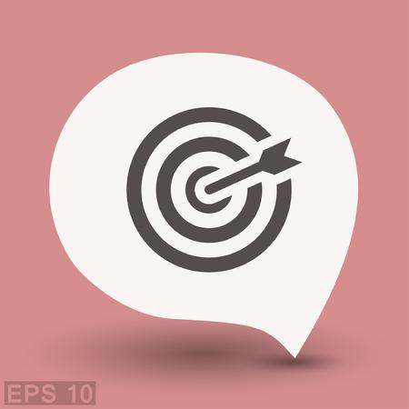 Pictograph of target. Vector concept illustration for design. Eps 10