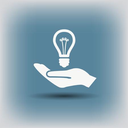 Pictograph of light bulb. Vector concept illustration for design. Eps 10