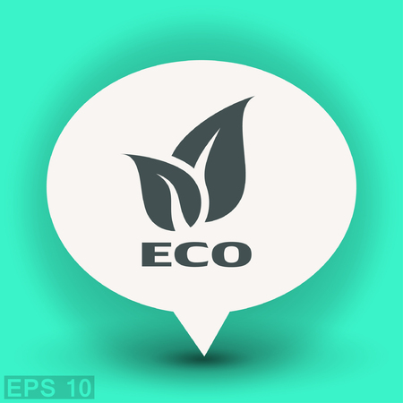Pictograph of eco. Vector concept illustration for design. Eps 10 Illustration