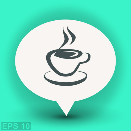 Pictograph of cup. Vector concept illustration for design. Eps 10