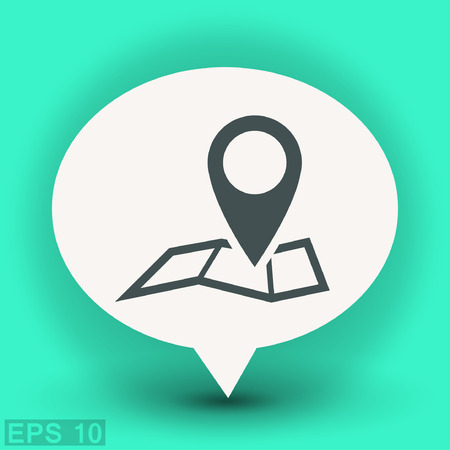 Pin on the map. Vector icon. Vector concept illustration for design. Eps 10
