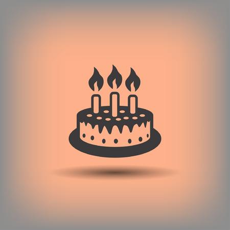 Pictograph of cake. Vector concept illustration for design. Illustration