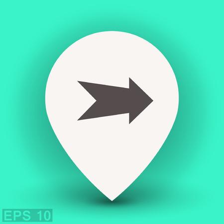 arrow icon: Arrow icon. Vector concept illustration for design.